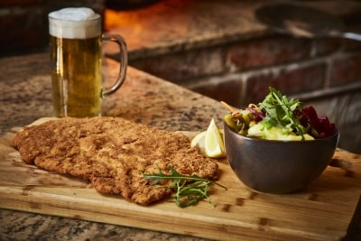 Stube étterem étlap - Óriás Wiener Schnitzel