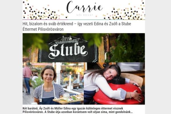 Carrie Stube cikk